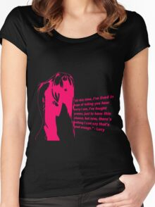 elfen lied lucy quote anime manga shirt Women's Fitted Scoop T-Shirt
