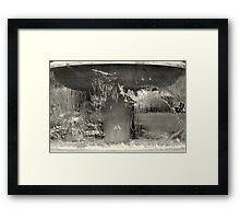 Distorted water fountain - Zurich Framed Print
