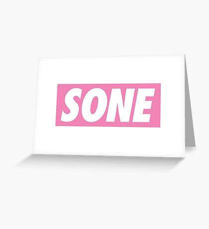 Girls' Generation (SNSD) Fandom 'SONE' Greeting Card