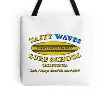 Tasty Waves Surf School. Tote Bag