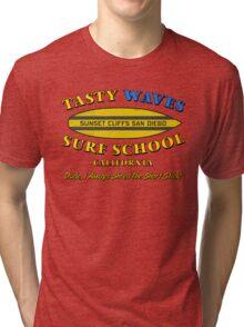 Tasty Waves Surf School. Tri-blend T-Shirt