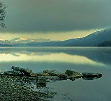 Coniston Water in January by VoluntaryRanger