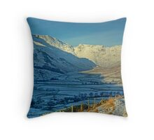 A Winter's Day in Langdale Throw Pillow