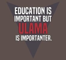 Education is important! But Ulama is importanter. by margdbrown