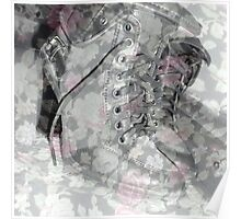 flower boots Poster