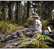 Working in the burnt bush Tasmania by HelenAmyes