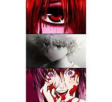 future diary mirai nikki hunter x hunter elfen lied killua yuno lucy anime manga shirt Photographic Print