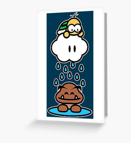 Raindrops keep falling on my head Greeting Card