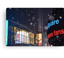 Time Square in Winter Canvas Print