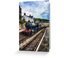 Steam Train Journey Greeting Card