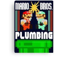 Mario Bros. Plumbing  Canvas Print