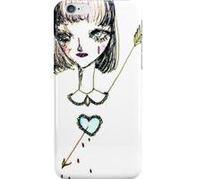 { b l u e  h e a r t }  iPhone Case/Skin