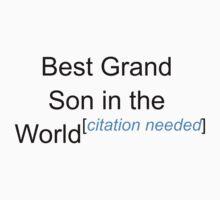Best Grand Son in the World - Citation Needed! by lyricalshirts