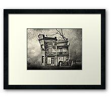 mr crumbles corner shop Framed Print