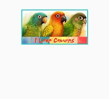 Sun blue-crowned green-cheeked conures realistic painting T-Shirt