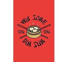 You Win Some You Dim Sum // Cute Funny Food Pattern  Photographic Print