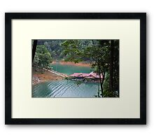 From under the shades 4 Framed Print