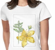 Hypericum perforatum - Botanical Womens Fitted T-Shirt