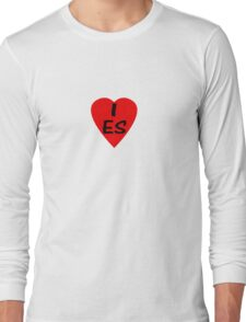 I Love Spain - Country Code ES T-Shirt & Sticker Long Sleeve T-Shirt