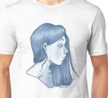 blue profile Unisex T-Shirt