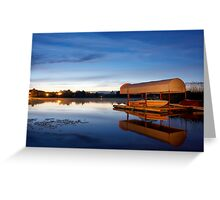 Night over the river Greeting Card