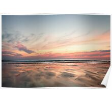 Woolacombe at Dusk Poster