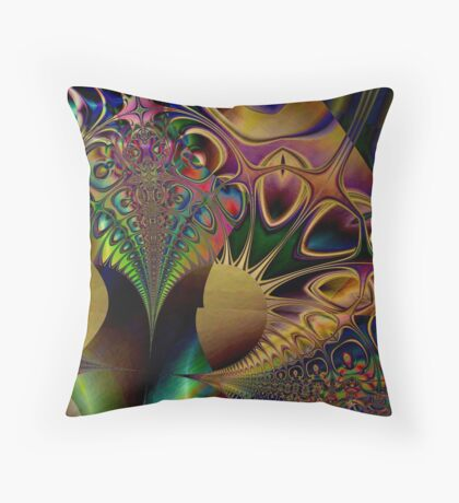 Metal Peacock  (UF0009) Throw Pillow