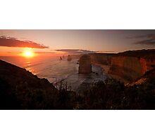 12 apostles at sunset Photographic Print