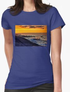 Ocean sunset walcott Womens Fitted T-Shirt