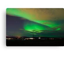 Northern lights near Reykjavik Canvas Print
