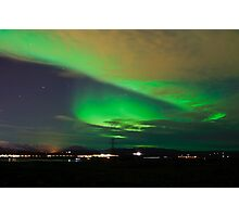 Northern lights near Reykjavik Photographic Print