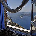 Santorini--Caldera View by milton ginos