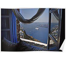 Santorini--Caldera View Poster