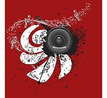 Music Poster with Audio Speaker 4 Photographic Print