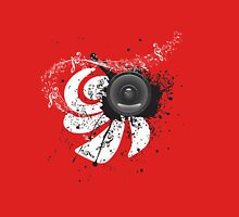 Music Poster with Audio Speaker 4 Unisex T-Shirt