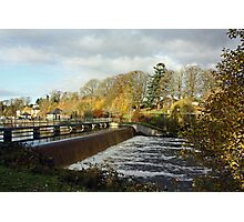 Woodford River - The Weir Photographic Print