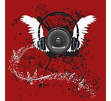 Music Poster with Audio Speaker 5 Photographic Print