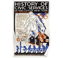 WPA United States Government Work Project Administration Poster 0116 History of Civic Services 1656 Fire Department New York City Poster