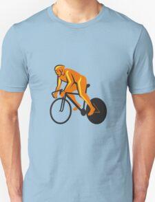 Cyclist Riding Cycling Racing Retro T-Shirt