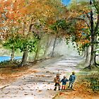 Three Brothers - Autumn Walk by Rob Beilby