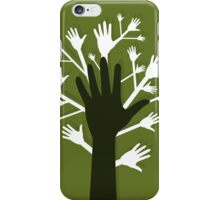 Hand a tree iPhone Case/Skin
