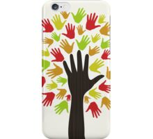 Hand a tree2 iPhone Case/Skin