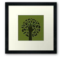 Hand a tree3 Framed Print