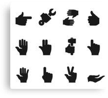 Hand an icon Canvas Print