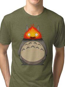 Totoro Meets Calcifer Tri-blend T-Shirt