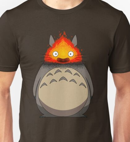 Totoro Meets Calcifer Unisex T-Shirt