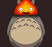 Totoro Meets Calcifer by crabro