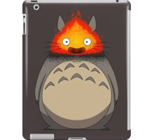 Totoro Meets Calcifer iPad Case/Skin