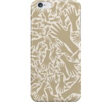 Hand background iPhone Case/Skin