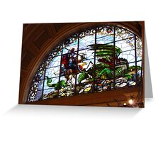 St George and the Dragon, St Georges Hall, Liverpool Greeting Card